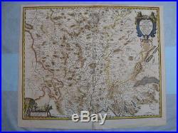 Jan Jansson, 1647, Rare Map Bourgogne, France 17th Cent