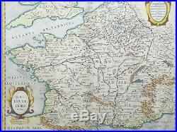 Janssonius Large Map of France Galliae Veteris Typus 1650