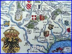 Johannes Stumpf Gallia oder Frankreich doublepage folio woodcut map 1548