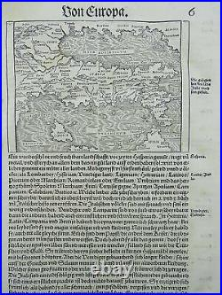Johannes Stumpf Scarce map of Italy First Issue 1548