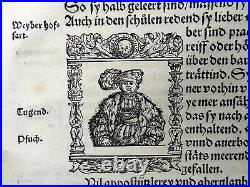 Johannes Stumpf Scarce map of Spain Portugal Monsters First Issue 1548