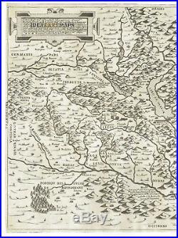 LAFRERI MAP 1562 SAVOY P. FORLANI F. BERTELLI Original Rare France Italy