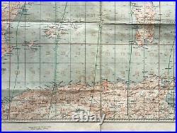 LARGE WAR MAP- 1941 LUFT-NAVIGATIONSKARTE EUROPE XXe CENTURY