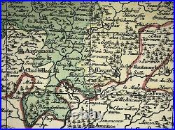 LORRAINE FRANCE 1730 Matthias SEUTTER LARGE ANTIQUE MAP 18TH CENTURY