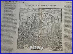 La Baume Languedoc (wine) France 1575 Belleforest Antique View 16th Century