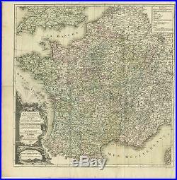 La France divisée en ses LVIII Provinces (.) Zannoni (1765)