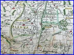 La Lorraine l'Alsace Barrois Rhine France Alps rare c. 1679 du Val rare folio map