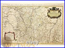 La Lorraine old map France Luxenbourg by Jaillot 1692