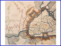 La Ville et Citadelle de Gand Battle plan Ghent Dumont 1729