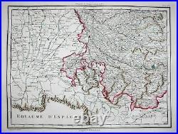 Languedoc Montpellier Toulouse Mantauban France carte Mentelle Chanlaire 1797