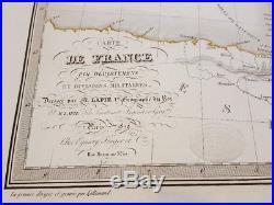 Large, high quality & embossed Carte de France 1829 by Lapie / du Roy