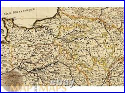 Le Royaume de France carte de l'atlas antique antique map Sanson/Jaillot 1692