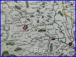 Luxembourg Namur Lorraine Champagne France c. 1679 du Val rare folio antique map