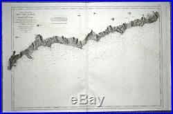 MONACO MONTE CARLO MENTON SAN REMO BORDIGHERA SAN LORENZO, Sea Chart 1860