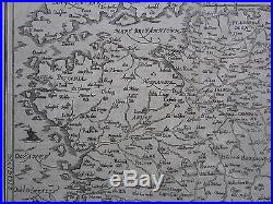 MÜNSTER/MUNSTER Cosmographia Large Map of France 1592