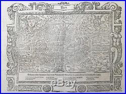 MÜNSTER/MUNSTER Cosmographia Large View Paris France 1598