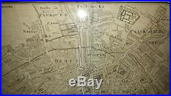 Map Of Paris France Mid 1700's Original Framed SO NICE