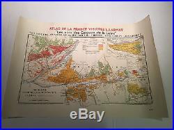 Map of Wine Region Atlas De La France Vinicole L. Larmat. 1946 AD
