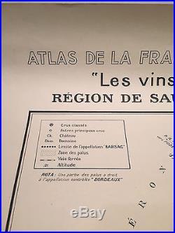 Map of Wine Region Atlas De La France Vinicole L. Larmat. Bordeaux. 1943 AD