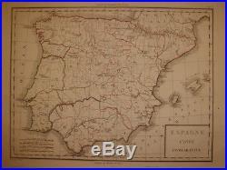 Mapa de España, siglo XVIII en Frances