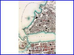 Marseilles France Townplan Baldwin & Cradock Map 1840
