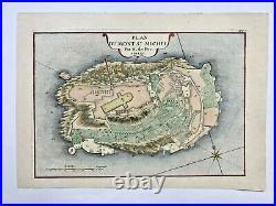 Mont St Michel (france) 1705 Nicolas De Fer Rare Antique Plan 18th Century