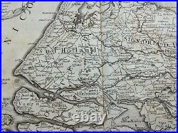 NETHERLANDS 1689 GIACOMO ROSSI VERY RARE WALL MAP (DOUBLE PAGE) 17th CENTURY
