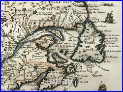 NORTH AMERICA NOUVELLE FRANCE 1719 HENRI CHATELAIN LARGE ANTIQUE MAP 18e CENTURY
