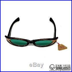NOS Map Vintage Sunglasses France' 50s Large Cat Eye