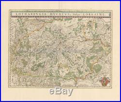 Nancy Metz Lorraine France Vintage Map Blaeu 1650 Original