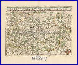 Antique Map France nancy