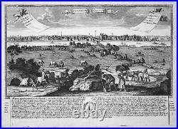 Nantes France Frankreich Ansicht Panorama Kupferstich engraving Leopold Werner