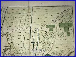 Nice France Dated 1690 Nicolas De Fer Nice Antique Engraved Plan 17th Century