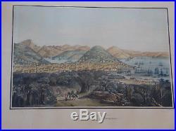 ORIGINAL 1850 Antique Print SAN FRANCISCO California CA Louis Le Breton France