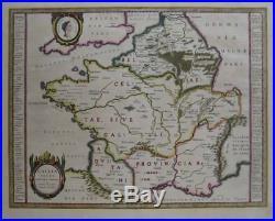 ORTELIUS Map GALLIA VETUS Julius Caesar Ancient Gaul France 1635 Willem Blaeu