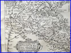 ORTELIUS Original Map France Arles Narbonne Grenoble Geneve Torino 1573