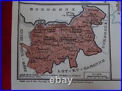 Old Map of Great Wines of France Bordeaux Graves de Vayres Ste-Foy-Bordeaux Entr
