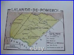 Old Map of Great Wines of France Bordeaux Lalande-de-Pomerol Néac Château