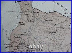 Old Map of Great Wines of France Bordeaux première côtes de Blaye Blayais