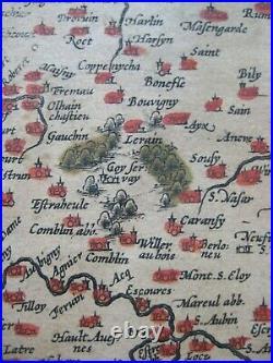 Original 1588 Abraham Ortelius Map ARTOIS Jacques de Surhon Northern France