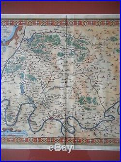 Original 16th Century Antique Ortelius Map of France 1598