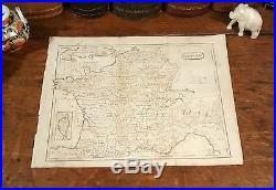 Original 1805 Rare Thomas Andrews Antique Map FRANCE Paris Tours Lyon Dijon Nice