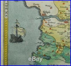 Original Antique 16th C Map ARTOIS ATREBATUM REGIONIS 1570 Ortelius France