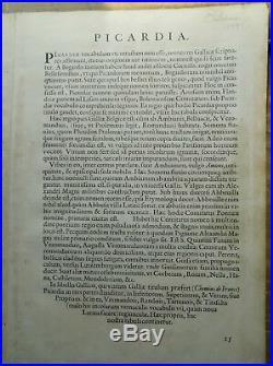 Original Antique 16th C Map PICARDIAE BELGIC 1579 Abraham Ortelius France