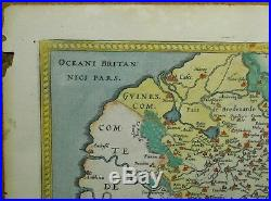 Original Antique Map 1570 Ortelius 16th century France ARTOIS ATREBATUM REGIONIS