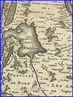 Original Antique Map 1640 France Willem Janszoon Blaeu Framed