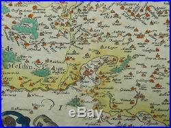 Original Antique Map ARTOIS ATREBATUM REGIONIS 1570 Ortelius France 16TH cent