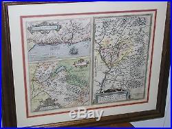 Original Antique Map France Switzerland Lake Geneva Rhone Avignon Ortelius 1608