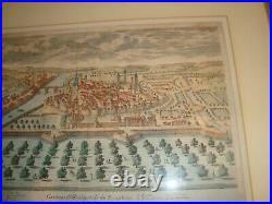 Original Antique ca 1690 Copper Engraving Map Grenoble France Pierre Aveline