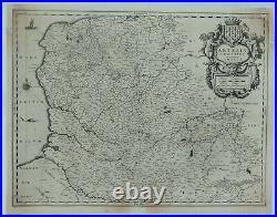 Original Map of Artois, France ARTESIA COMITATUS by Jansson in c1650